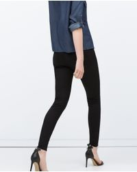 Zara | Black Powerstretch Skinny Trousers | Lyst