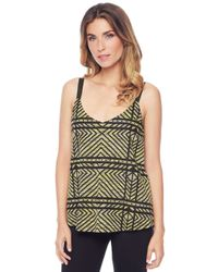 Ella Moss | Green Kyla Crop Tank Top | Lyst