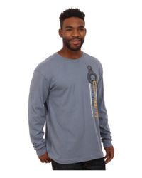 Carhartt | Gray Maddock Graphic Made To Last Pulley Long Sleeve Tee for Men | Lyst