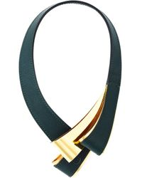 Marni | Green Structured Loop Necklace | Lyst