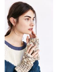 Urban Outfitters - Natural Spacedyed Chunky Cable Fingerless Glove - Lyst