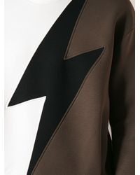 Neil Barrett - Brown Lightning Print Sweater for Men - Lyst