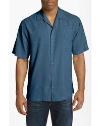 Tommy Bahama | Blue 'Amazon' Original Fit Silk Jacquard Campshirt for Men | Lyst