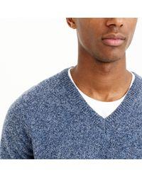 J.Crew - Blue Slim Marled Lambswool V-neck Sweater for Men - Lyst