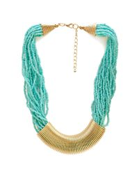 Forever 21 - Blue Earthy Element Beaded Necklace - Lyst