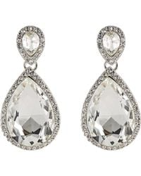 Kenneth Jay Lane | Metallic Women's Crystal Double-drop Earrings | Lyst