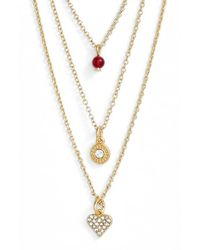 Sequin - Metallic 'color Karma' Triple Strand Pendant Necklace - Lyst