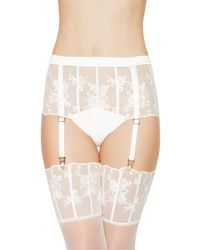 La Perla | Natural Boyshorts With Garters | Lyst