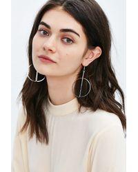 Urban Outfitters - Metallic Jerry's Geometric Hoop Earring - Lyst