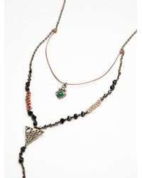 Free People - Brown Double Layer Rosary - Lyst