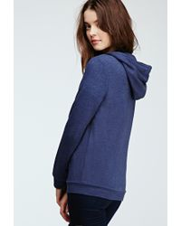 Forever 21 - Blue French Terry Hoodie - Lyst
