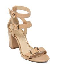 Jessica Simpson - Natural Julinda Leather Heels - Lyst
