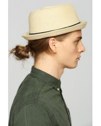 Urban Outfitters - Natural Christys Sewn Braid Fedora for Men - Lyst