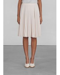& Other Stories | Natural Pleated Skirt | Lyst