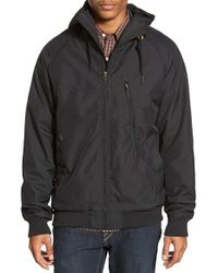 Volcom | Black 'hernan' Hooded Jacket for Men | Lyst