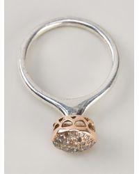Rosa Maria - Metallic 'wafa' Ring - Lyst