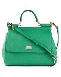 Dolce & Gabbana | Green Sicily Medium Calf-Leather Tote | Lyst