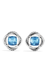 David Yurman | Infinity Earrings With Hampton Blue Topaz | Lyst