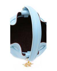 Sophie Hulme - Small Drawstring Bucket Bag - Sky Blue - Lyst