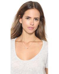 Rebecca Minkoff   Metallic Arrow Pendant Necklace - Gold/Pearl   Lyst
