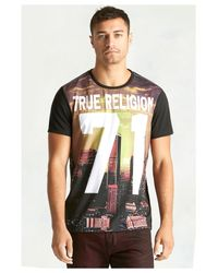 True Religion | Gray La Sunset Mens T-shirt for Men | Lyst