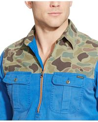 Polo Ralph Lauren - Blue Camo-yoke Pullover Shirt for Men - Lyst