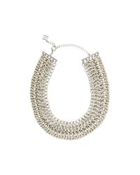BCBGMAXAZRIA | Metallic Wovenchain Spike Necklace | Lyst