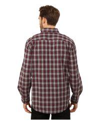 Carhartt - Red Fort Plaid Long Sleeve Shirt for Men - Lyst