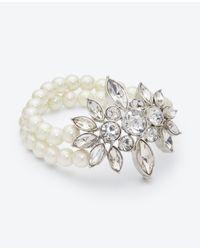 Ann Taylor | Metallic Pearlized Stone Statement Bracelet | Lyst