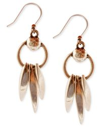 Lucky Brand - Metallic Dangle Drop Earrings - Lyst