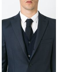 Tonello - Blue Knitted Pointed Tip Tie for Men - Lyst