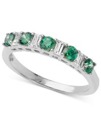Arabella | Green And White Swarovski Elements Band (1-1/3 Ct. T.w.) | Lyst