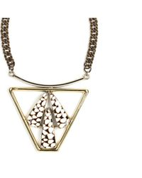 Anndra Neen | Metallic Trapezoid Shell Necklace | Lyst