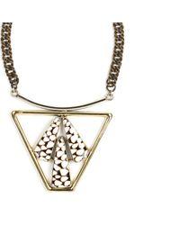 Anndra Neen - Metallic Trapezoid Shell Necklace - Lyst