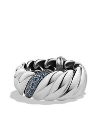 David Yurman - Blue Hampton Cable Bracelet With Diamonds - Lyst