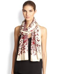 Tory Burch - Red Kyoto Butterfly Silk Scarf - Lyst