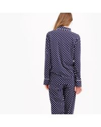 J.Crew | Blue Petite Dreamy Cotton Pajama Set In Dot | Lyst