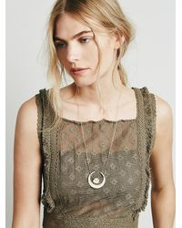 Free People - Metallic Womens Sentiment Necklace - Lyst