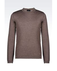 Emporio Armani - Brown Crewneck for Men - Lyst