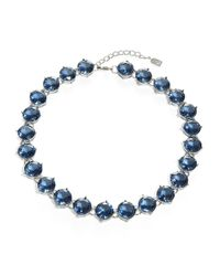Lauren by Ralph Lauren | Blue Cobalt Crystal Necklace | Lyst