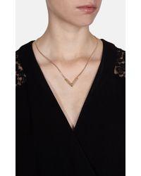 Karen Millen - Metallic Angle Crystal Necklace - Lyst