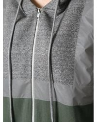 Ashish | Green Reflective Hoodie with Zip | Lyst