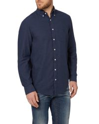 GANT | Blue Heather Twill Shirt for Men | Lyst
