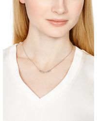 kate spade new york - Metallic Say Yes Space Cadet Necklace - Lyst