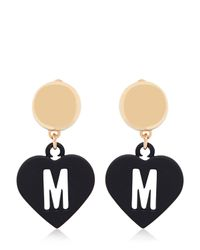 Moschino | Metallic Love Pendant Earrings | Lyst