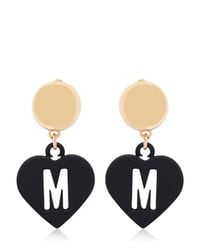 Moschino - Metallic Love Pendant Earrings - Lyst