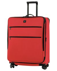 "Victorinox | Red Closeout! 50% Off Victorinox Lexicon 27"" Expandable Spinner Suitcase for Men 