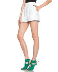 Peter Pilotto | White Grace Cotton-blend Shorts | Lyst