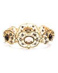 Alexis Bittar - Metallic Gold Jardin De Papillon Hinged Bracelet - Lyst