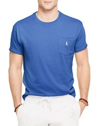 Ralph Lauren - Blue Polo Jersey Pocket Crewneck Tee for Men - Lyst